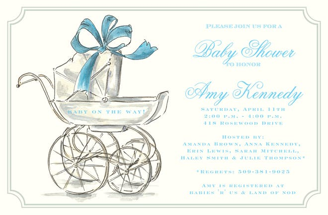 Baby Boy Shower Invitations-Invitations-The Write Choice