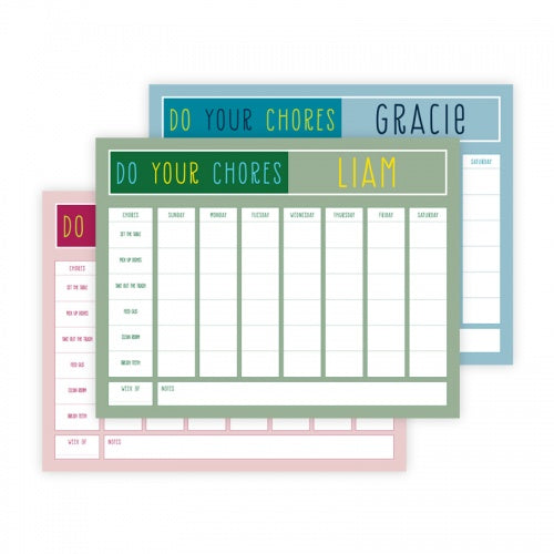 Kid Chore Charts-Chore Chart-The Write Choice