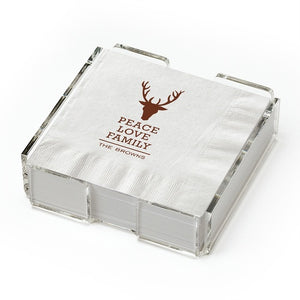 Beverage Napkins with Holder-Napkins-The Write Choice