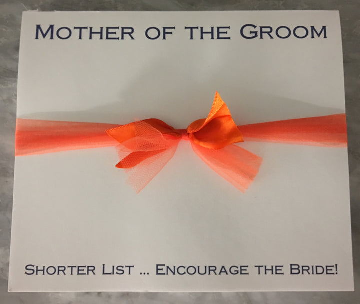 Mother of the Groom Super Slab-Notepad-The Write Choice