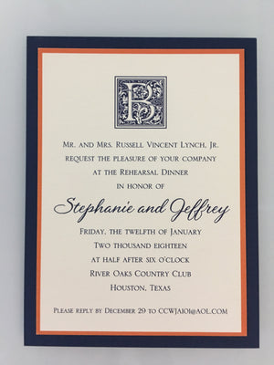 William Arthur Rehearsal Dinner Invitations-Invitations-The Write Choice