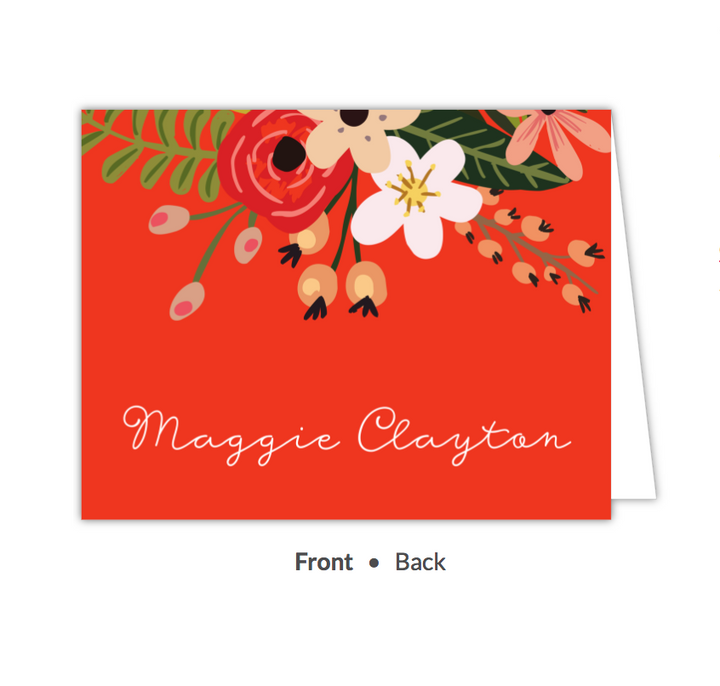 Botanical Fiesta Folded Note-Stationery-The Write Choice