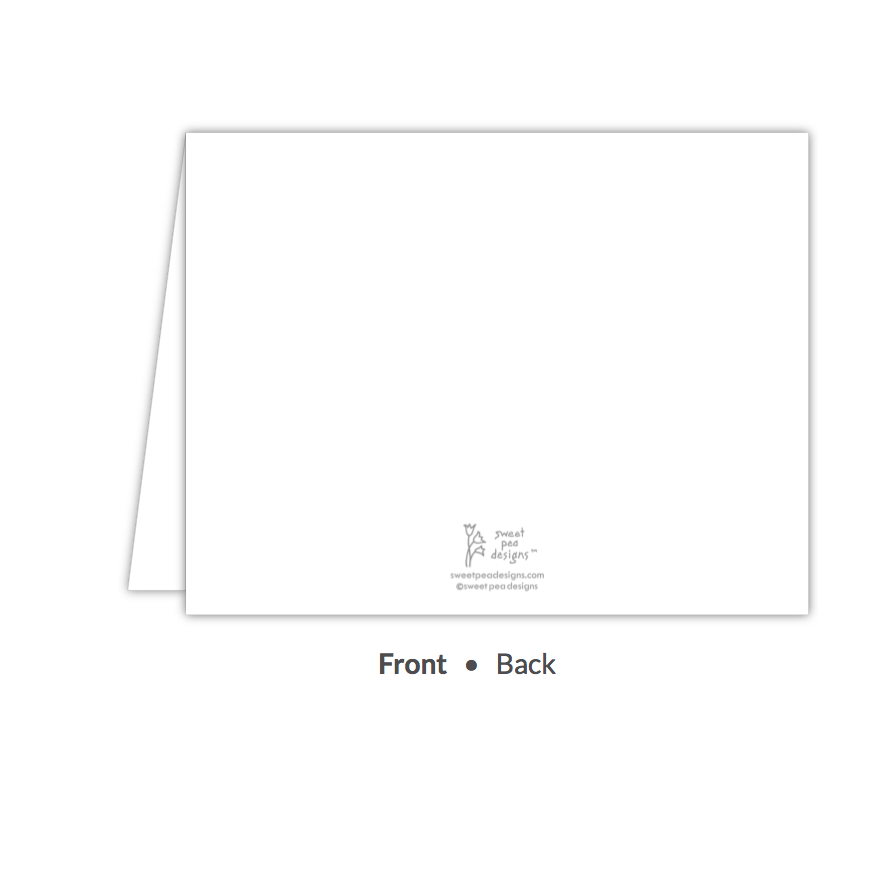 Classic White Folded Note-Stationery-The Write Choice