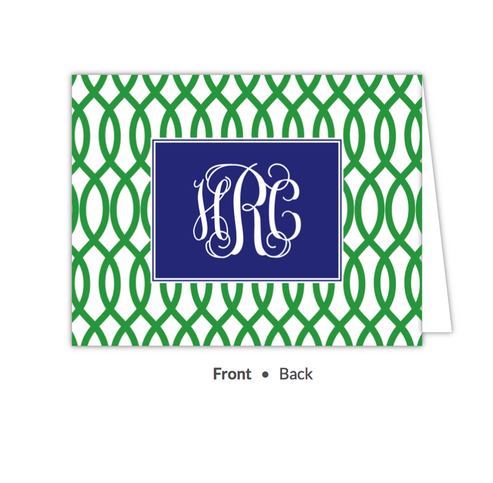 Garden Gate Green Folded Note-Stationery-The Write Choice