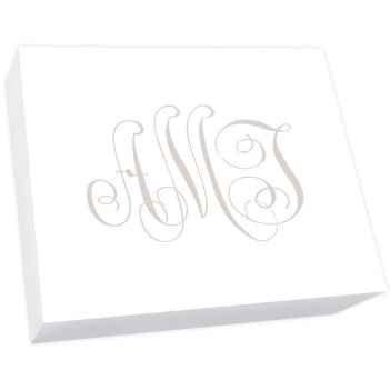 Henley Watercolor Monogram Super Slab-Notepad-The Write Choice