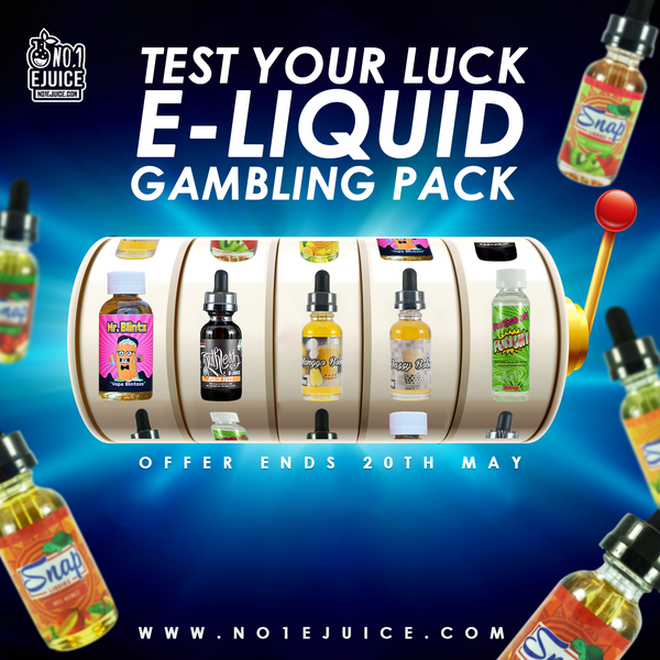 Eliquid Gambling Sale - try your luck & mystery gift | Further clearance reductions | New Arrival | Ejuice from £1
