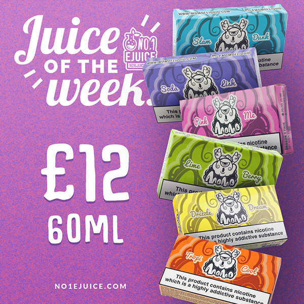 Juice of the Week - MoMo E-Liquid 60ml £12 | Yankee Juice Co. 5 New Flavours | Mix-Up Sweets 50ml | Lemon Ice by Flawless I Chubby Bubble Vapes £12