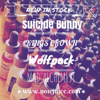New stock arrived! Suicide Bunny, Kings Crown, Wolfpack and The Mad Alchemist