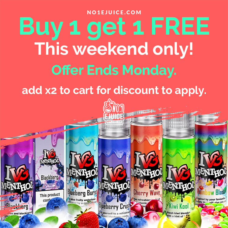Buy 1 Get 1 FREE - IVG 50ml E-Liquids - Add x2 to cart for discount to apply - MoMo NOW £2 - Candy King - Unicorn Frappe 100ml - Juice N Power