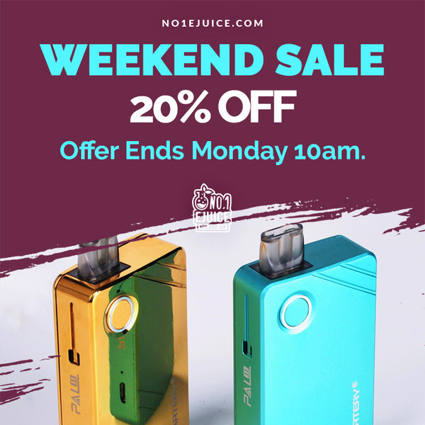 NOW £20 - 20% OFF Artery Pal 2 Kit WEEKEND SALE - New - Zeus Juice - Aisu 50ml/10ml salt - Zap Juice 50ml/10ml salt - 500ml Gamble Pack