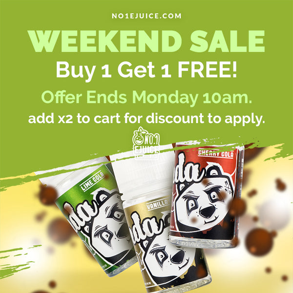 £6.95 - Buy 1 Get 1 FREE Panda Lemonade Sale Ends Monday 10am - New Arrival Fruit Monster 100ml - MoMo Chubby 50ml - Nasty Salt 10ml 20mg