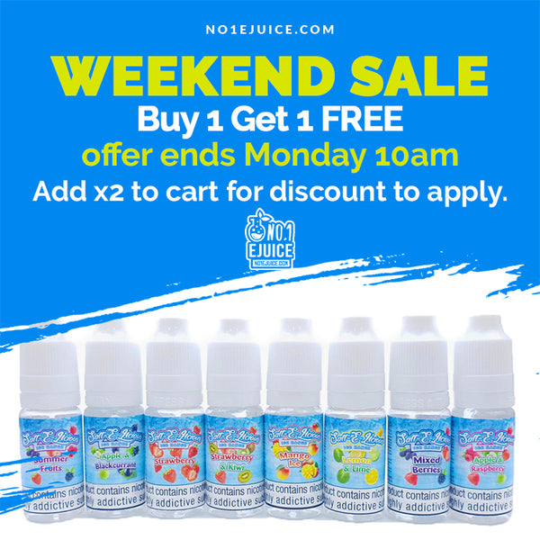 £3.50 Buy 1 Get 1 Free Weekend Sale - Salt E Licious 10ml 20mg - Offer Ends Monday 10am | Froot 50ml - Tropik Thunder 100ml - Salt Gambling Pack