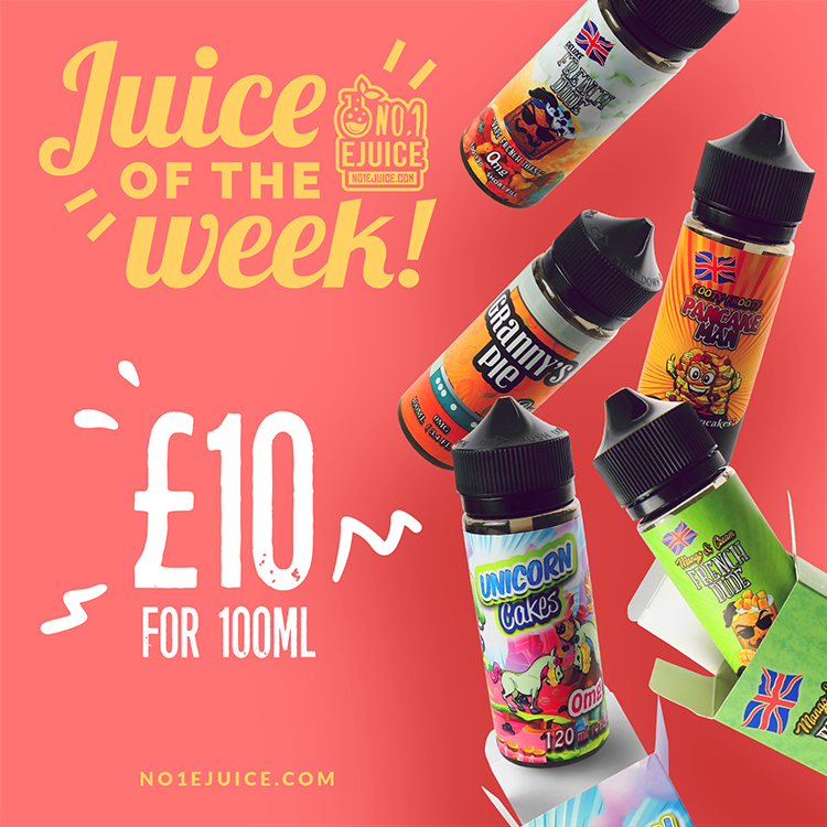30% OFF Juice of the Week - Vape Breakfast Classics 100ml £10 | New arrival - I VG Pops 50ml | Momo TPD 6x10ml | Zume E-Liquid| Lost Art 50ml ONLY £10