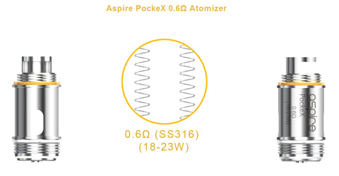 Aspire Pockex Replacement Coils 0.6 Ohm