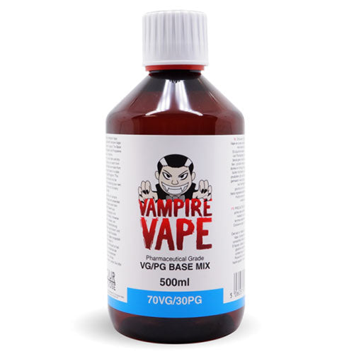 Vampire Vape 70/30vg 500ml Base Mix