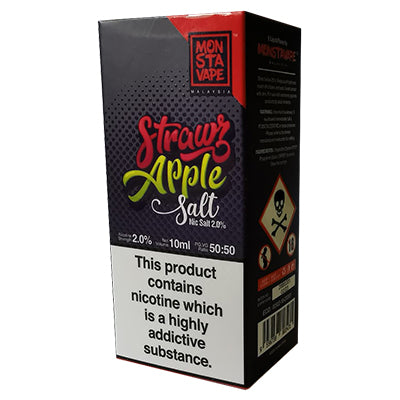 Strawz Apple E-Liquid by Monsta Vape Salts 10ml