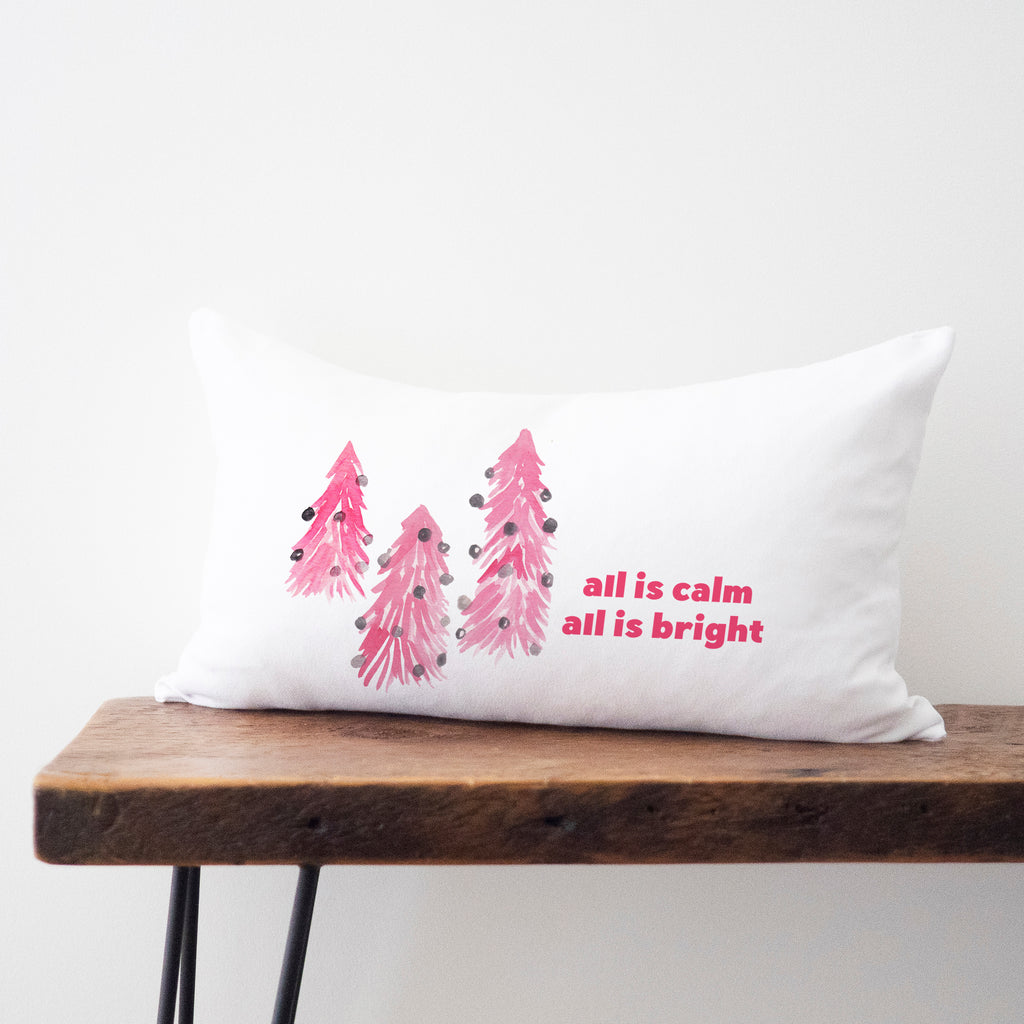 "Pink Trees Pillow 14""x20"""