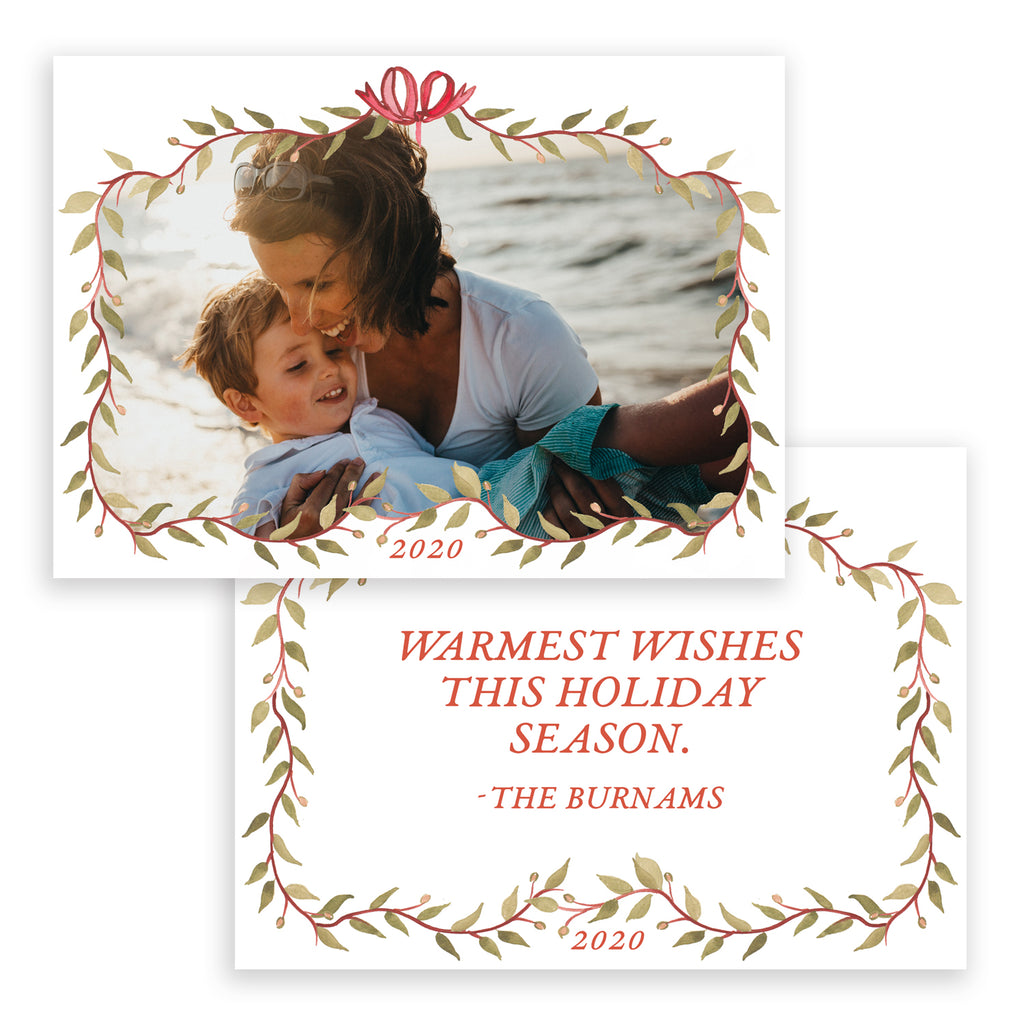 Bow Frame Christmas Card