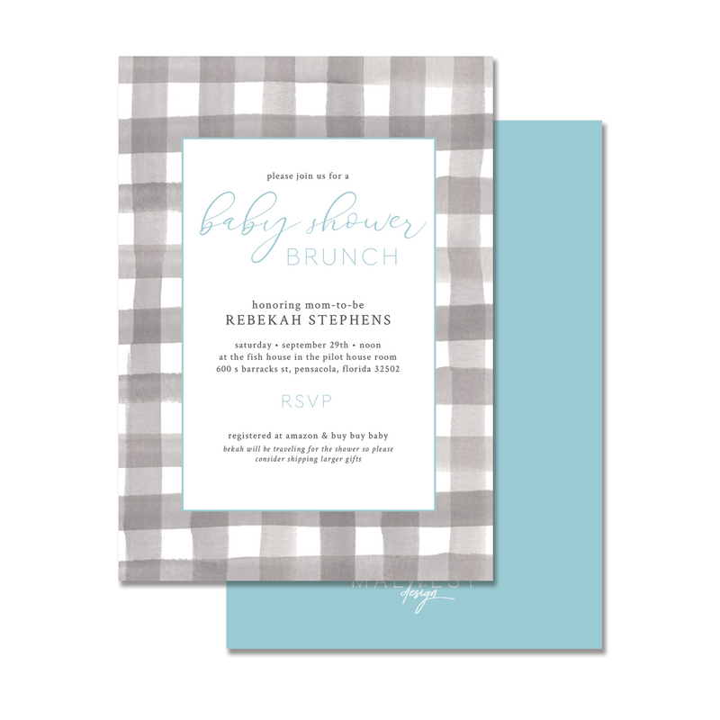 Buffalo Blue Invitation