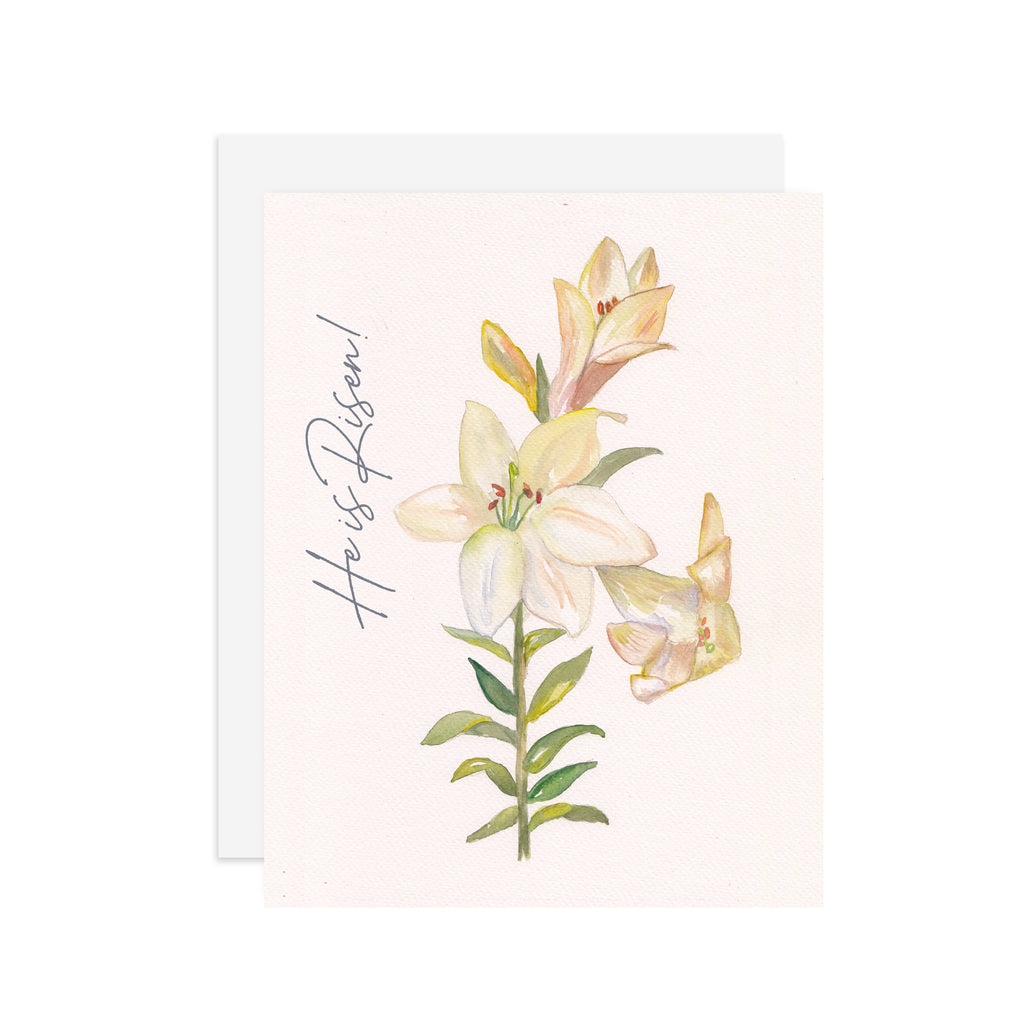 Easter Lily  - A2 note card