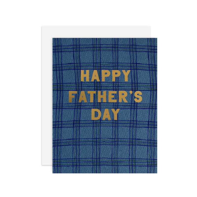 Plaid Father's Day - A2 note card