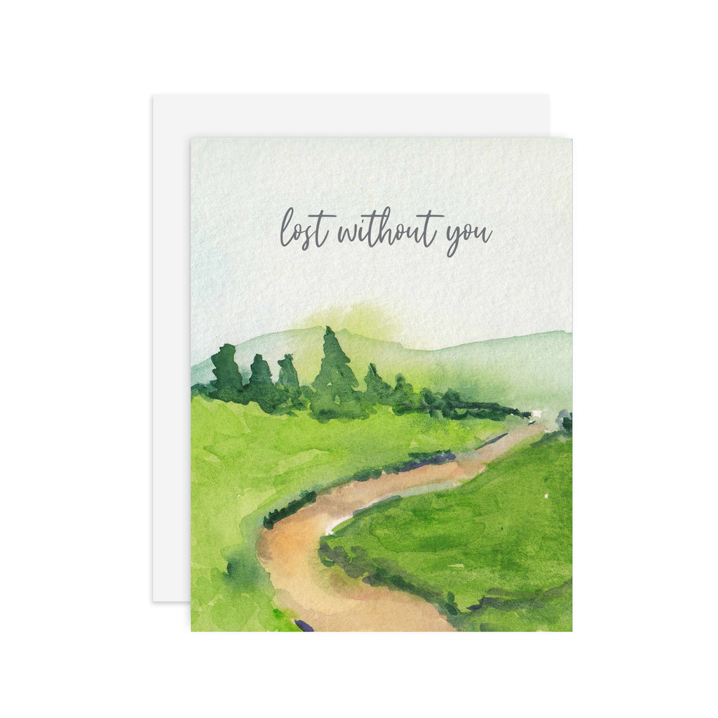 Lost Without You - A2 notecard