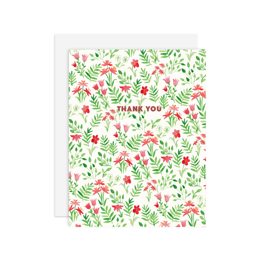 Meadow Thank You - A2 notecard
