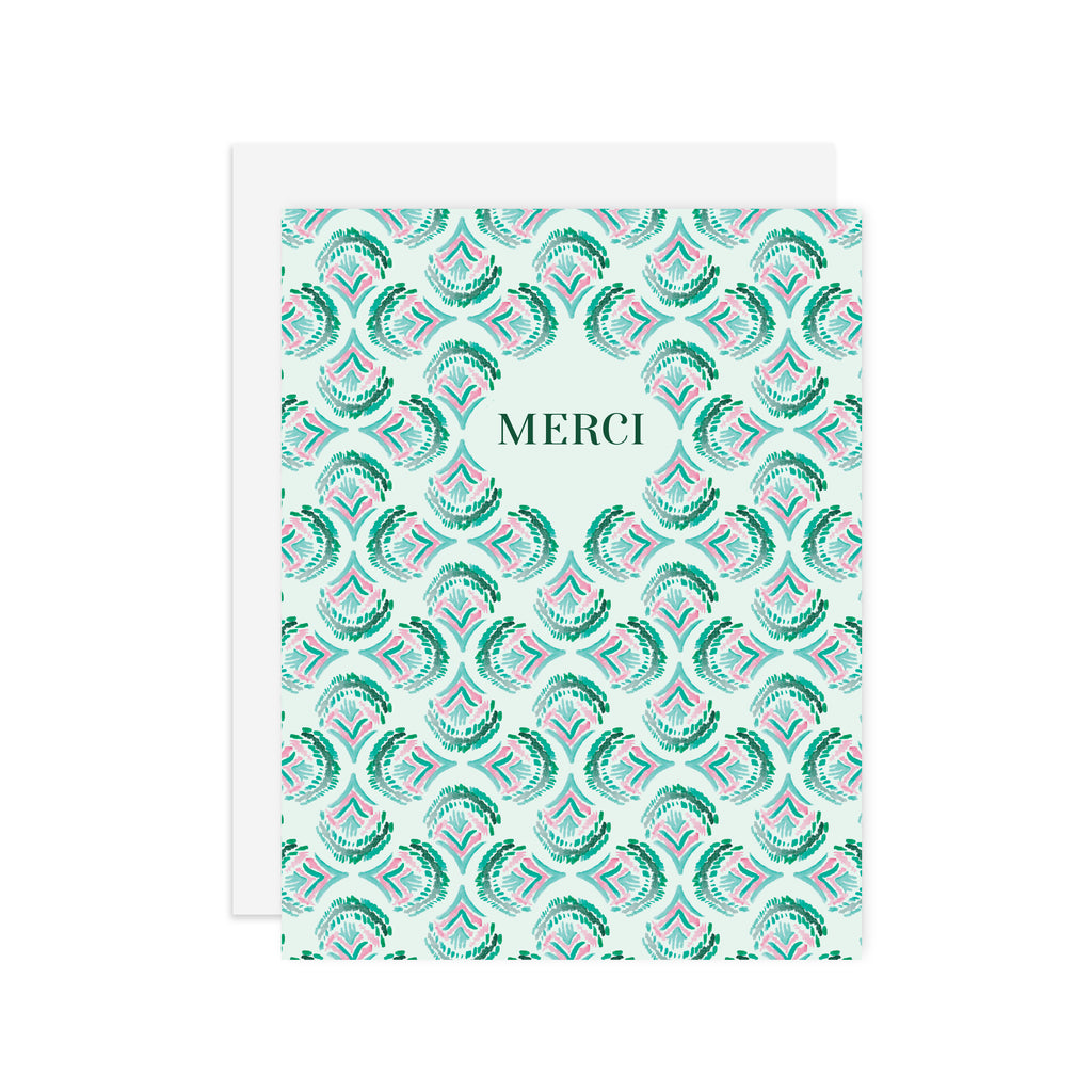Deco Merci 3 - A2 notecard