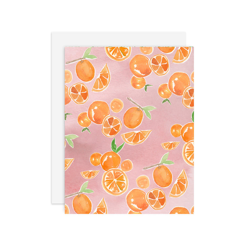 Everyday Oranges - A2 notecard