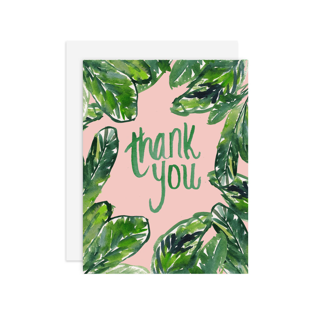 Thank you palms - A2 notecard
