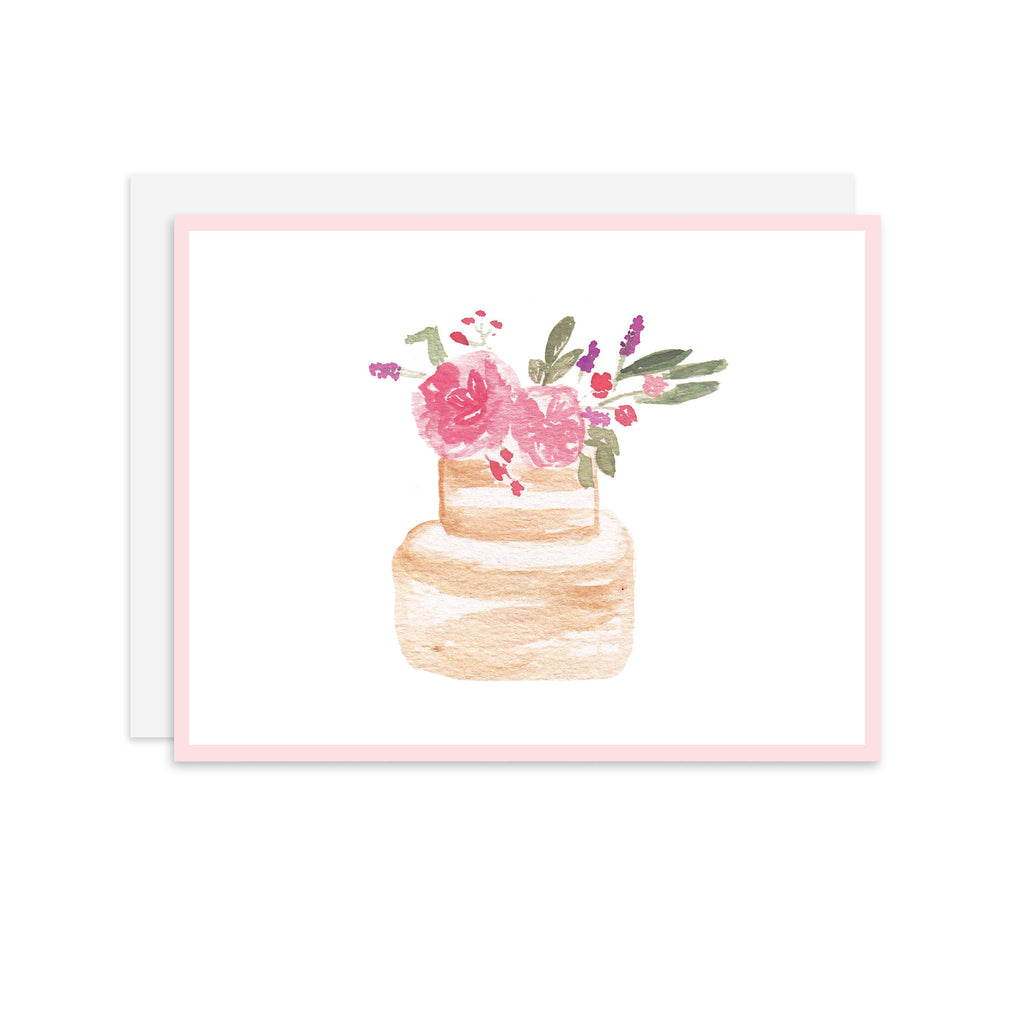Floral Cake - A2 notecard
