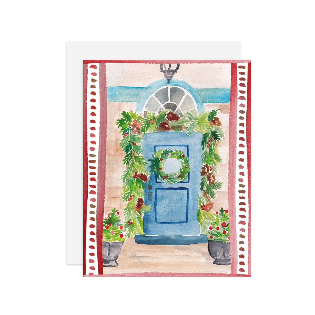 Christmas Doorway - A2 notecard