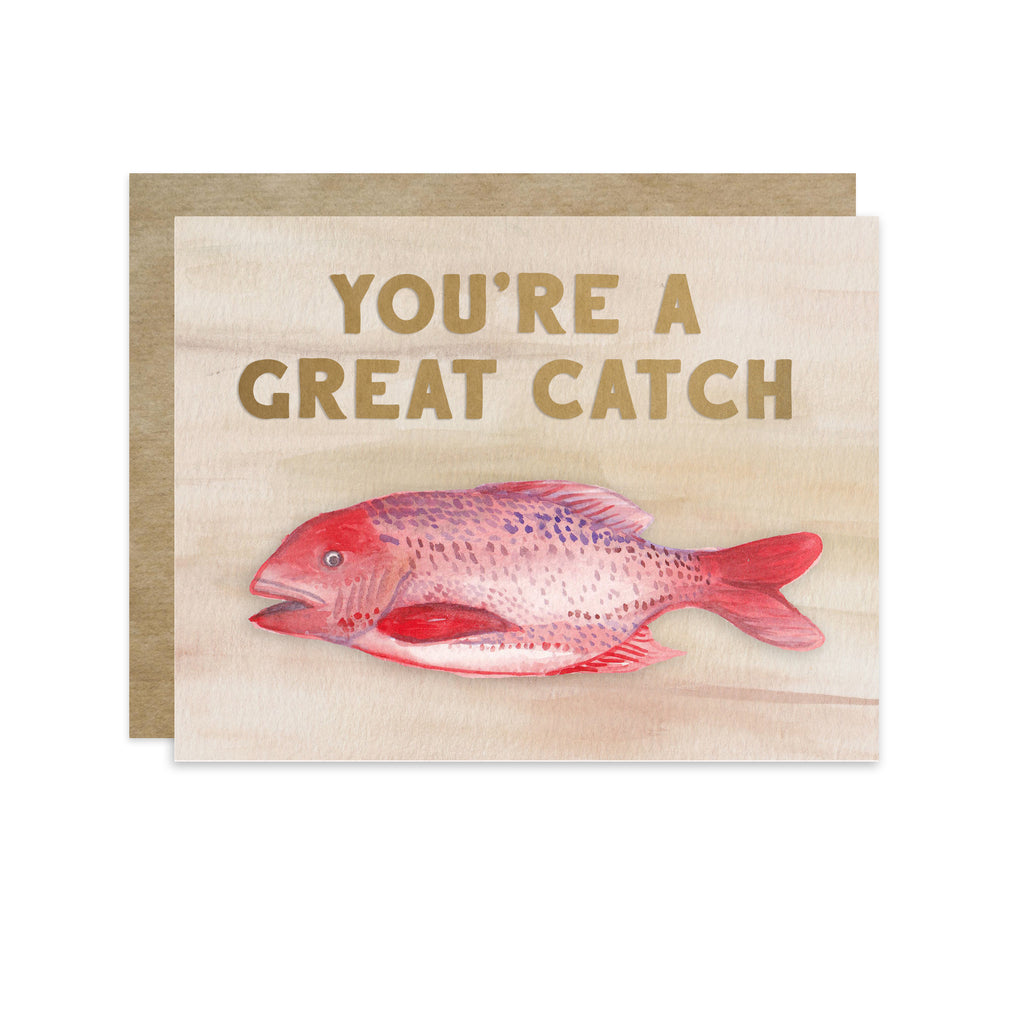 Great Catch - A2 note card