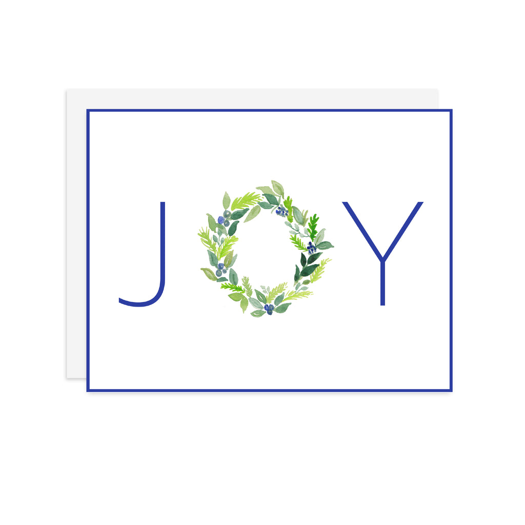 JOY Wreath - A2 notecard