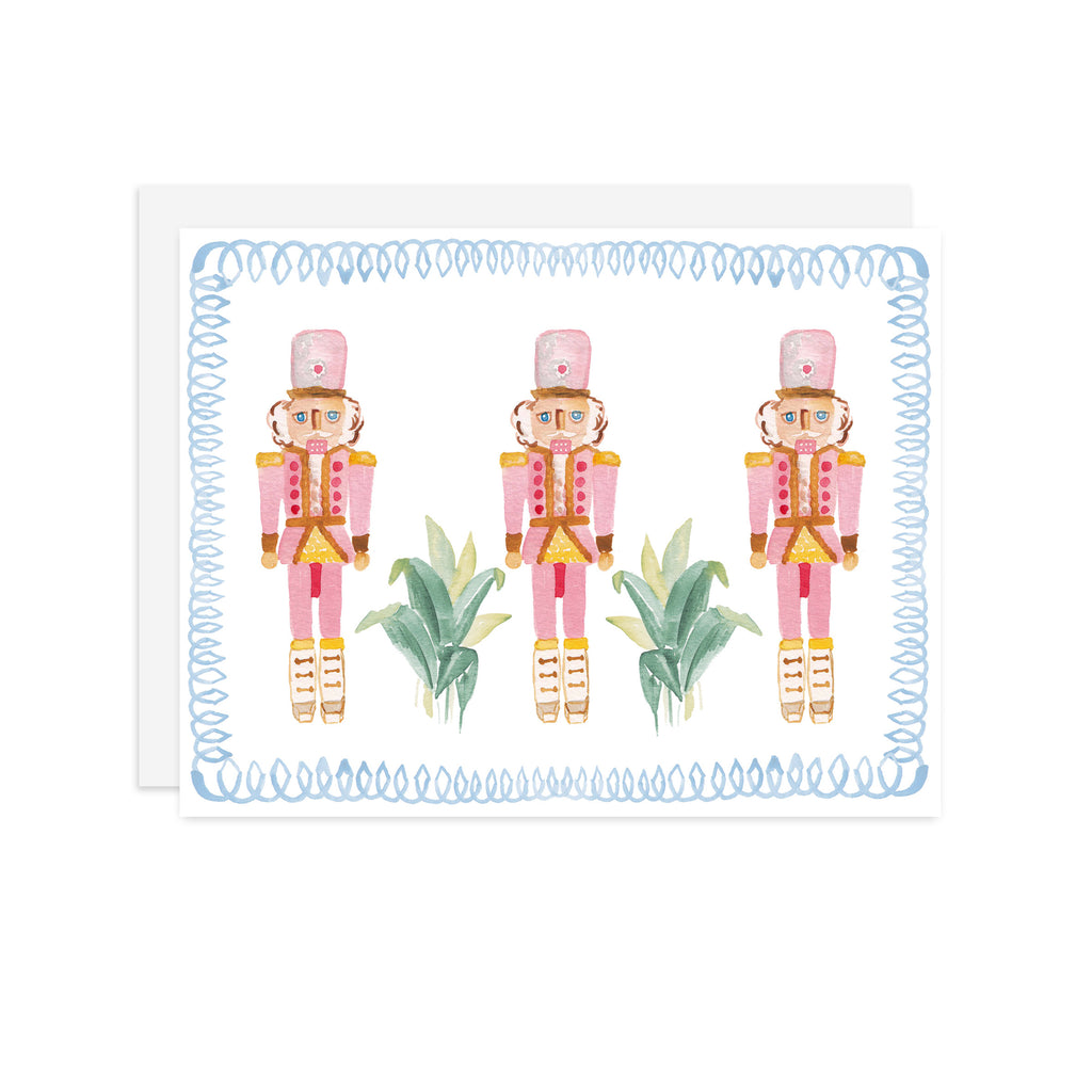 Blue Framed Nutcrackers - A2 notecard