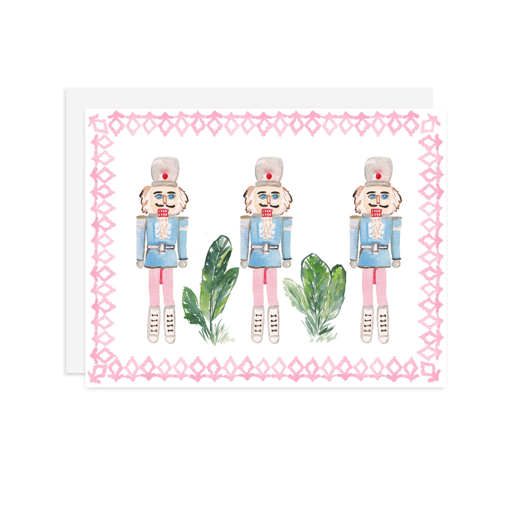 Pink Framed Nutcrackers - A2 notecard