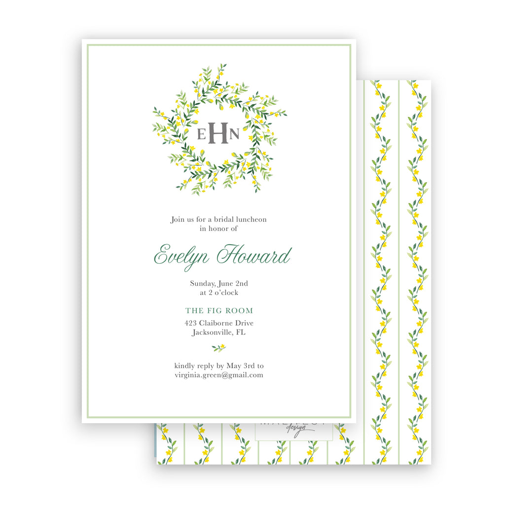 Evelyn Shower Invitation