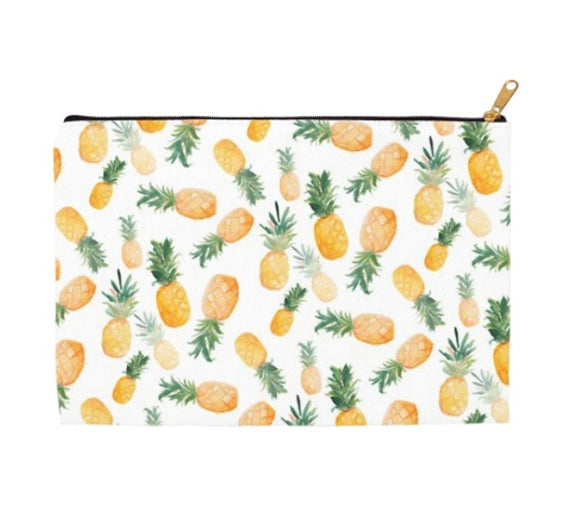 Flat Falling Pineapples Accessory Pouch