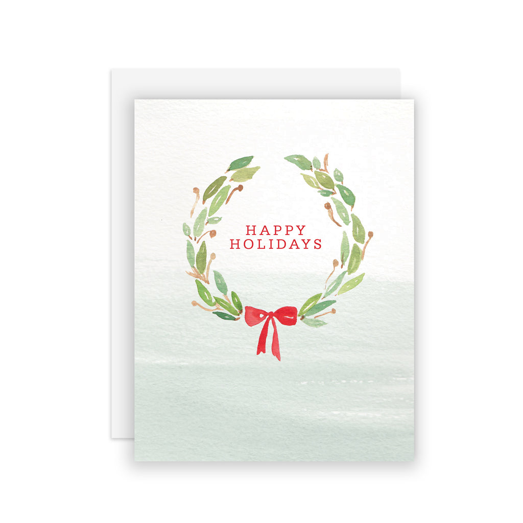 Holiday Wreath - A2 notecard