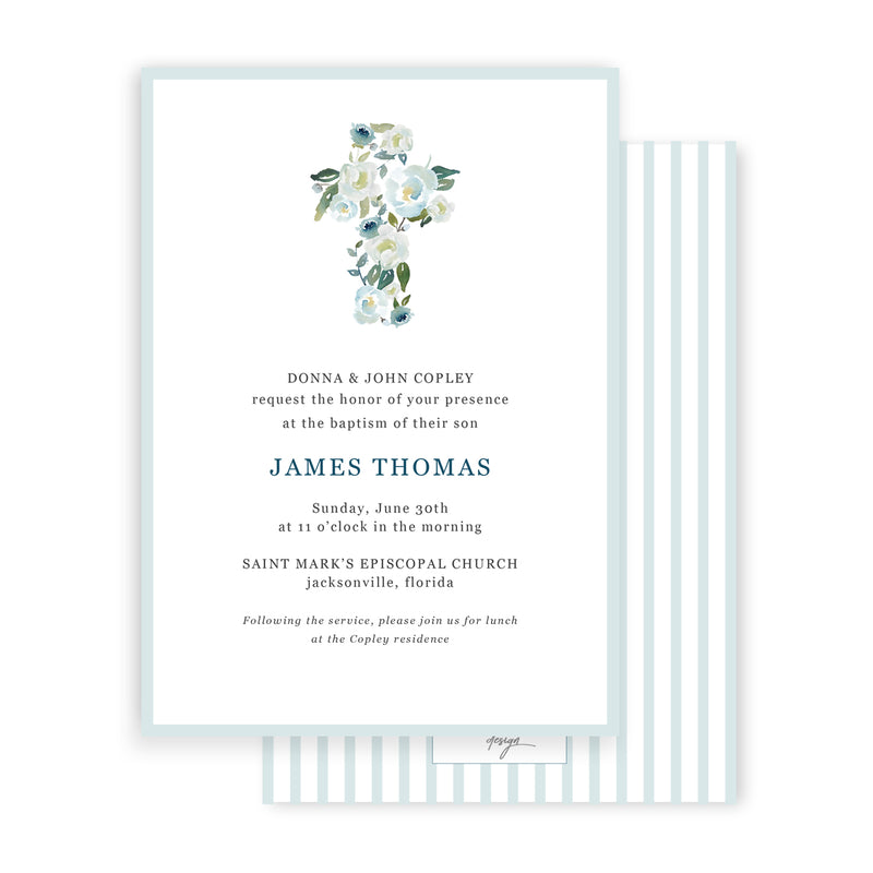 James Baptism Invitation