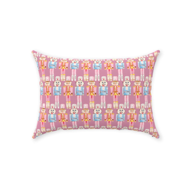 "Nutcracker Pattern Pillow 14""x20"""