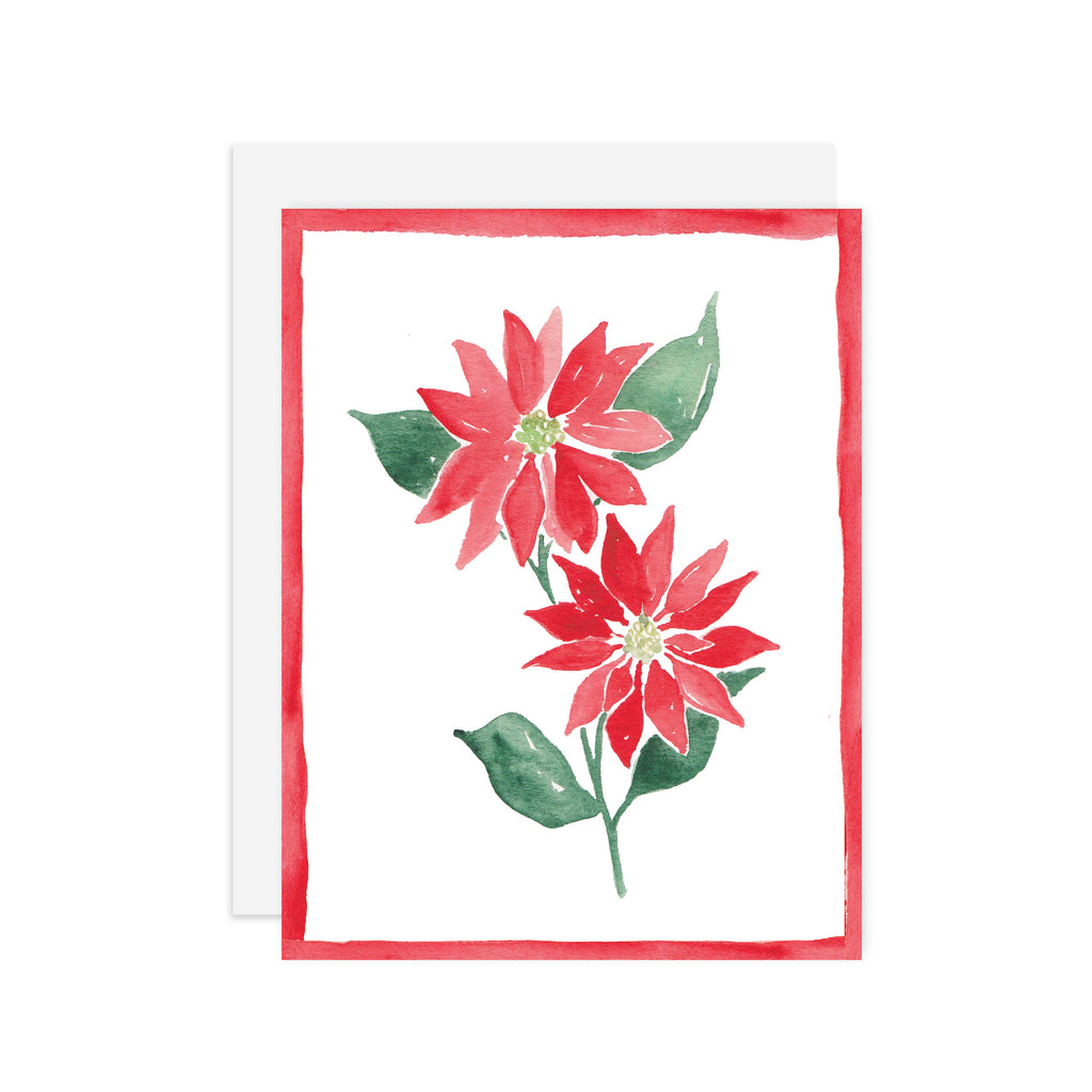 Poinsettia - A2 notecard