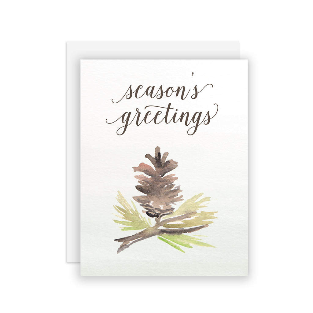 Season's Greetings Pine - A2 notecard