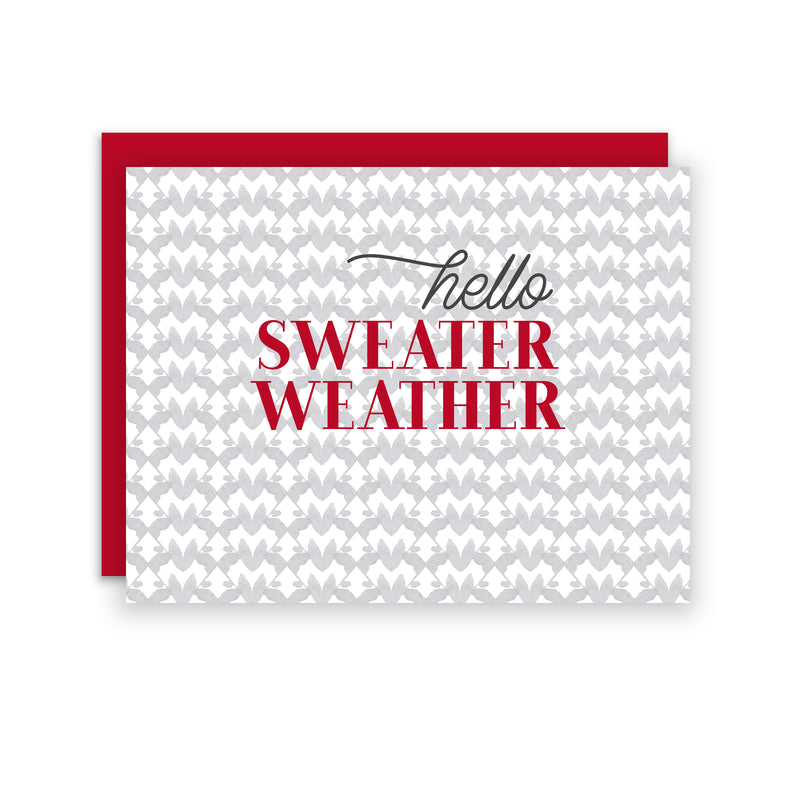 Sweater Weather - A2 notecard