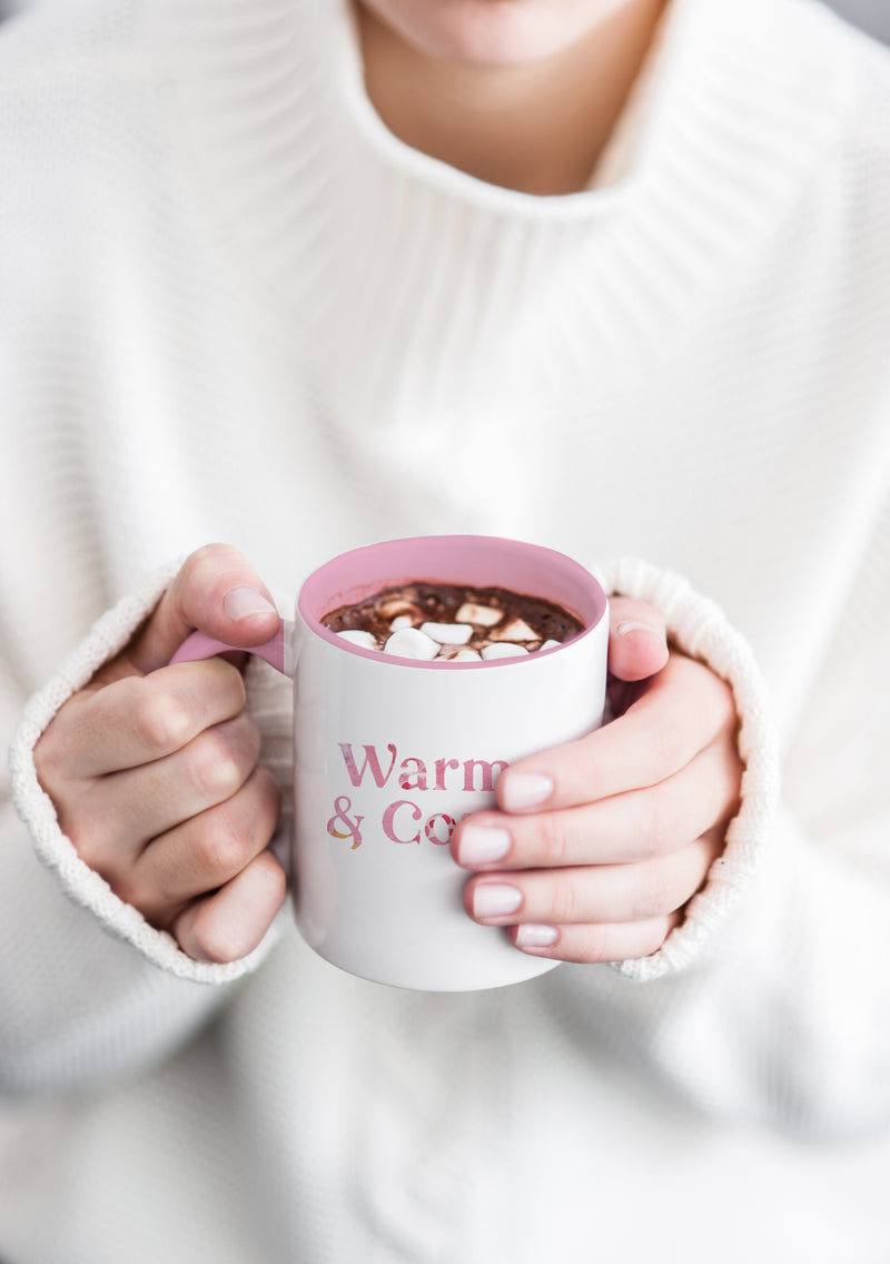 Warm and Cozy Pink Mug