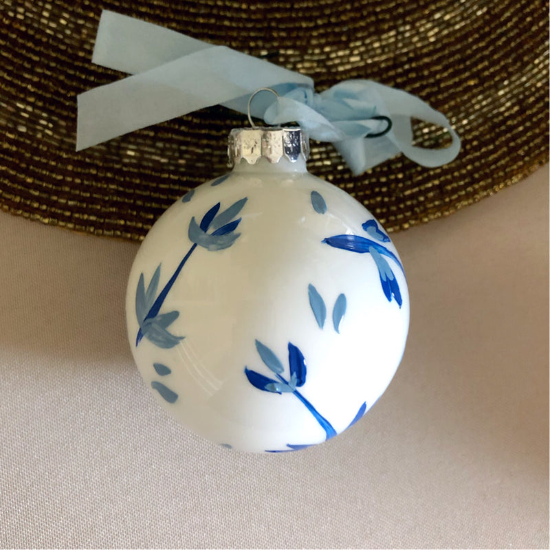 Hand Painted Blue Ornament: blue pattern