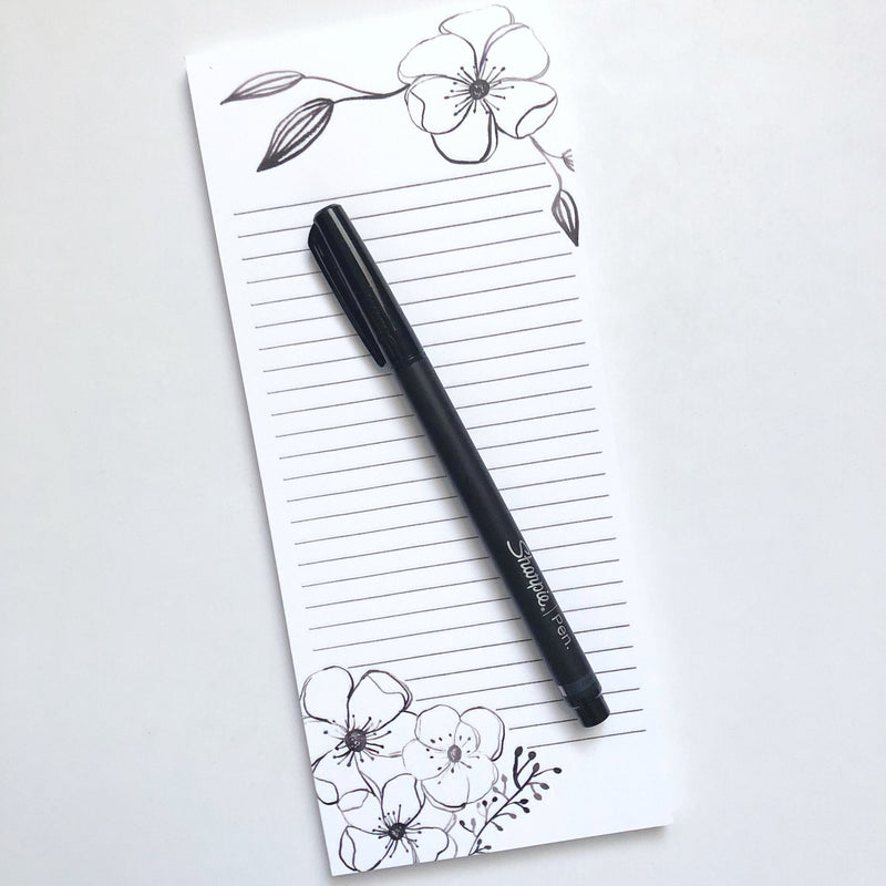 Anemone Floral Notepad