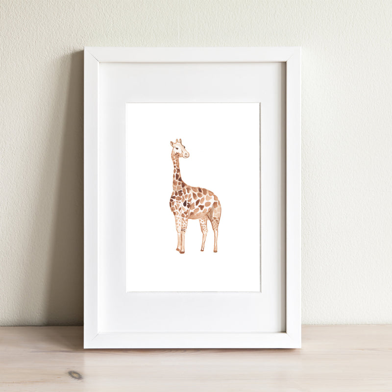Giraffe Watercolor Print