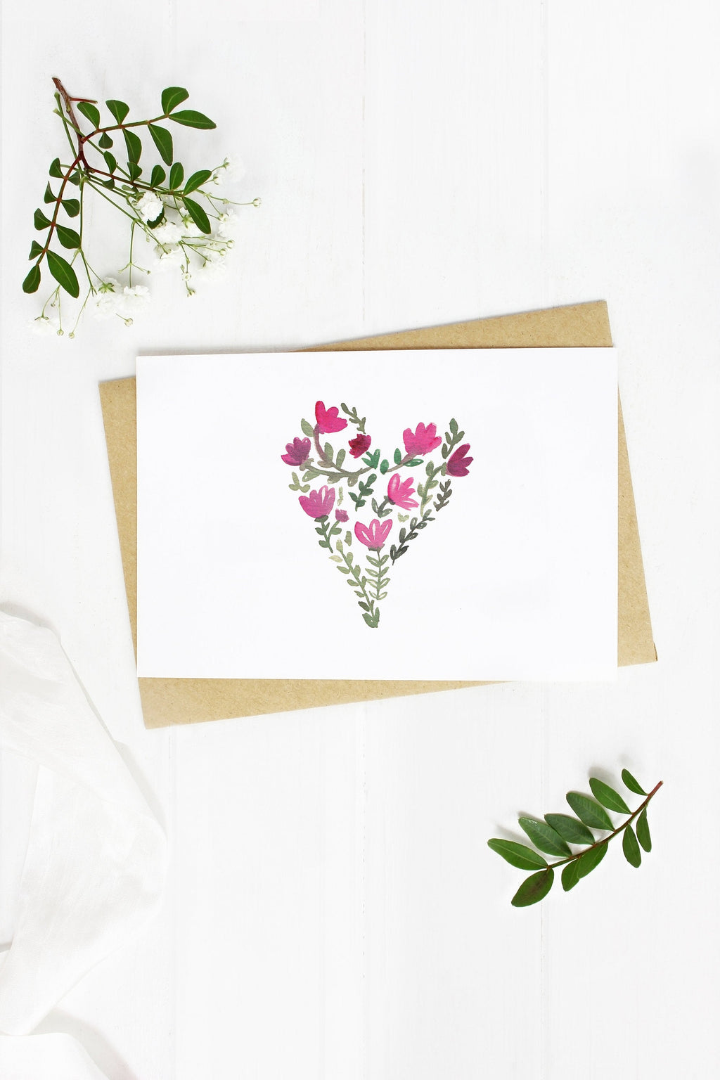 Flower Heart - A2 note card