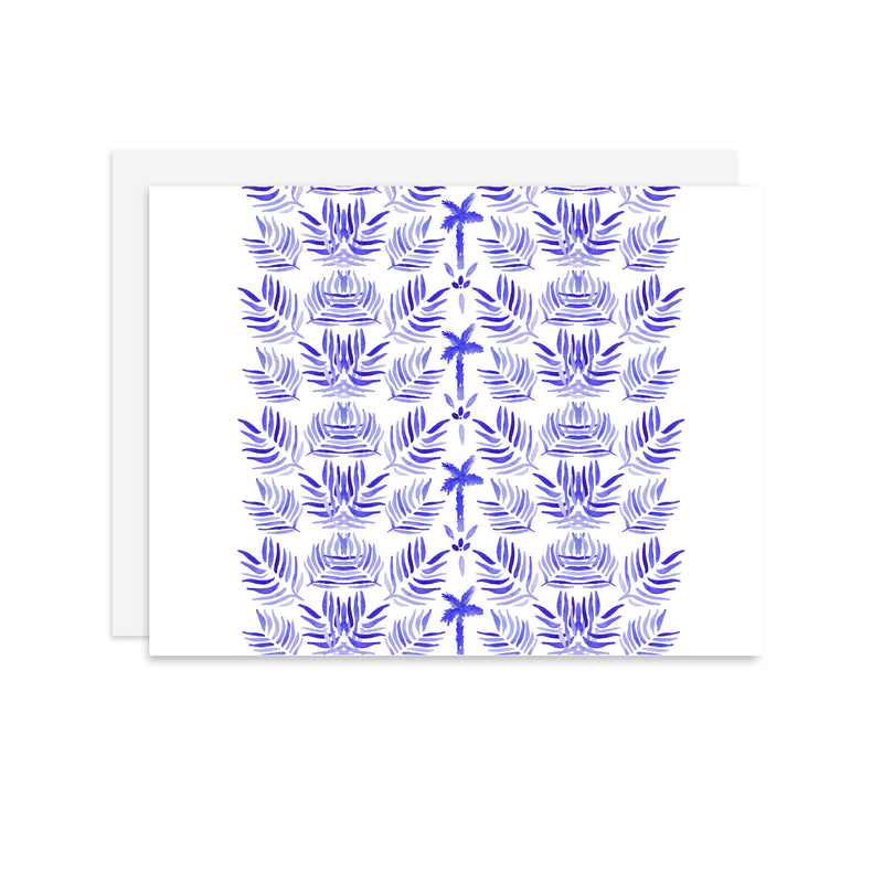 Palm Pattern - A2 note card
